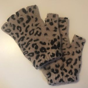 Urban Outfitters Leopard Print Fingerless Gloves